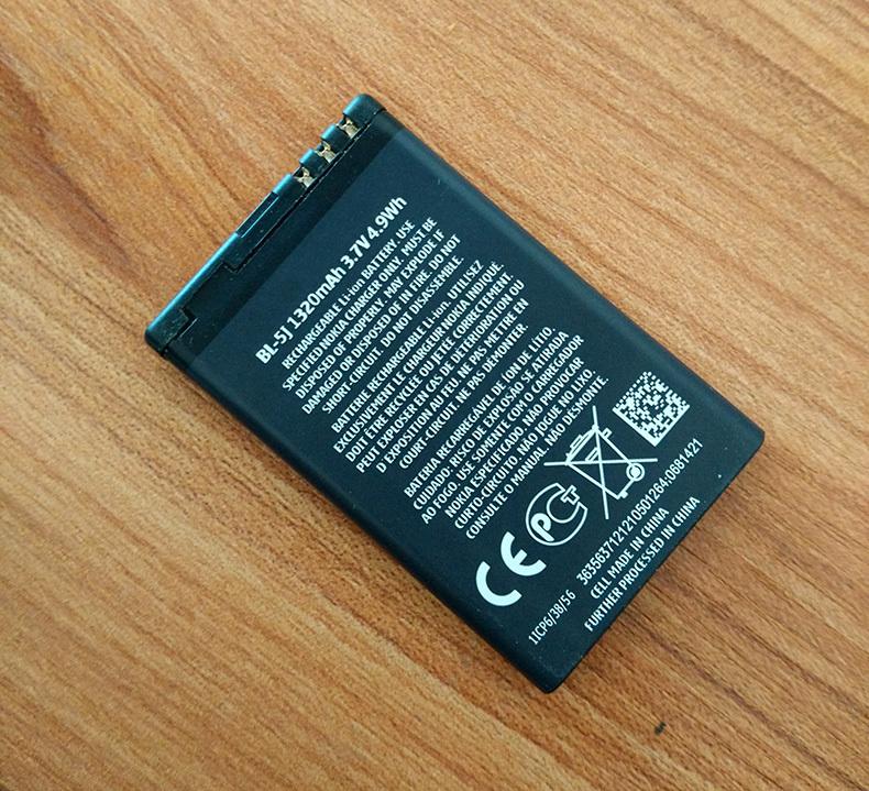 bl 5j BL 5J Battery 1320mAh Mobile Phone Battery for NOKIA 5230c 5800xm 5800ixm 5802xm 5900xm
