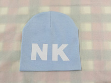 13 colors kids hats 2015 Letter NK print boys girls hat cotton warm knitting skullies beanies winter hats for toddler baby(China (Mainland))