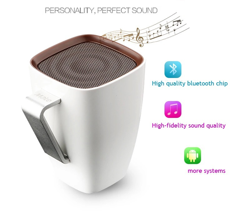 Creative coffee cup Wireless bluetooth speaker portable Mobile computer subwoofer Amplifier Sound Box Free Gift