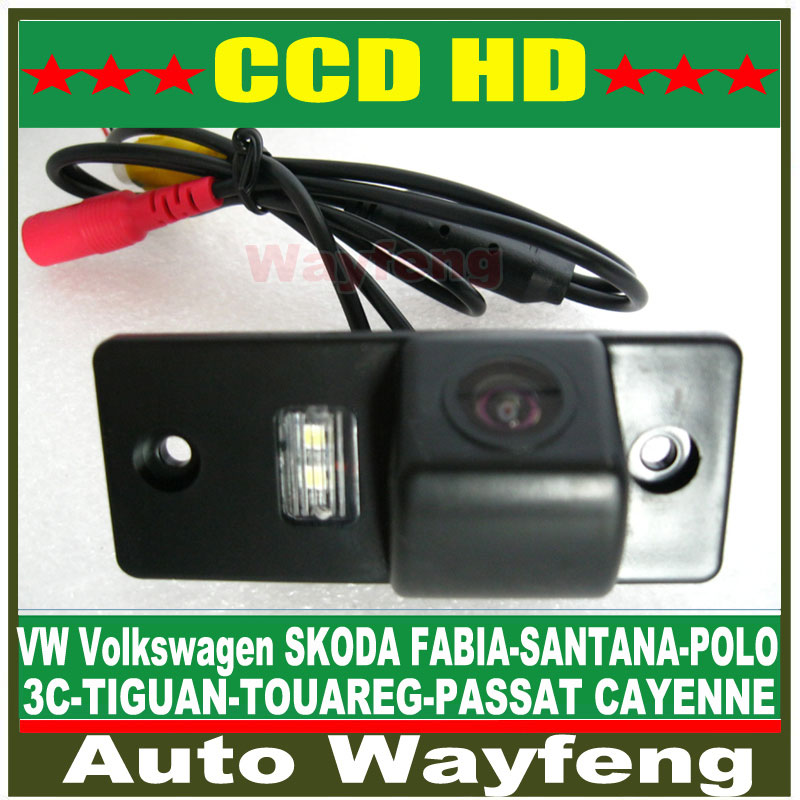 Car Rear View Reverse backup Camera for PORS-CHE CAYENNE VW Volkswagen SKODA FABIA/SANTANA/POLO(3C)/TIGUAN/TOUAREG/PASSAT(China (Mainland))