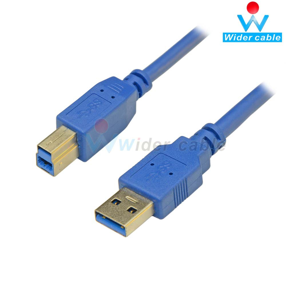 High Quality Blue Color USB 3.0 Printer Data Cable USB 3.0 AM to BM Cable For Printer(China (Mainland))
