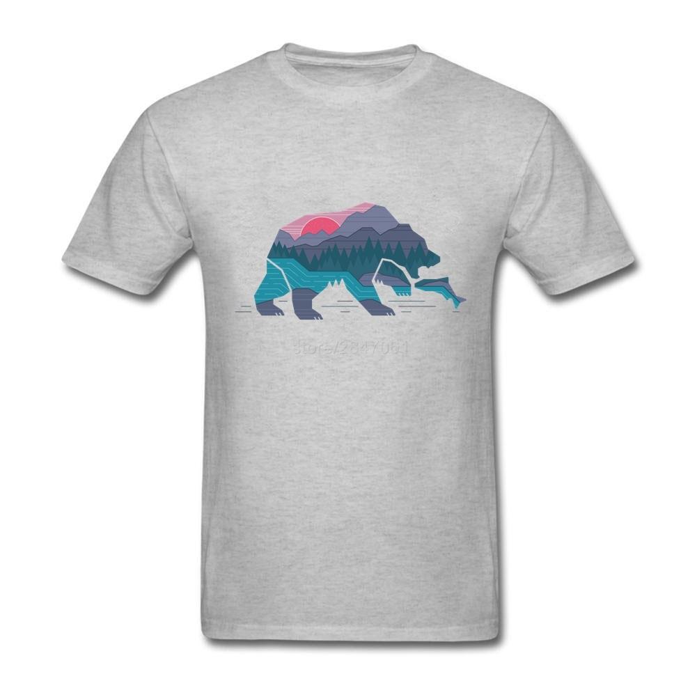 Shirt design of man - Bear Country Tees Shirt Man Latest Design White Short Sleeve Tees Shirt Big Size China
