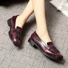 Buy Fashion Luxury Brand Fringe Loafers Flats 2017 Casual Genuine Leather Moccasins Slip-On Platforms Tassel Boat Shoes Big Size 41 for $91.10 in AliExpress store