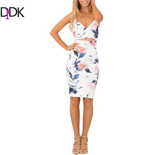 Didk летний стиль 2016 мода женщины платья клуб рукавов спагетти ремень вырез улица оболочка платье длиной до колен