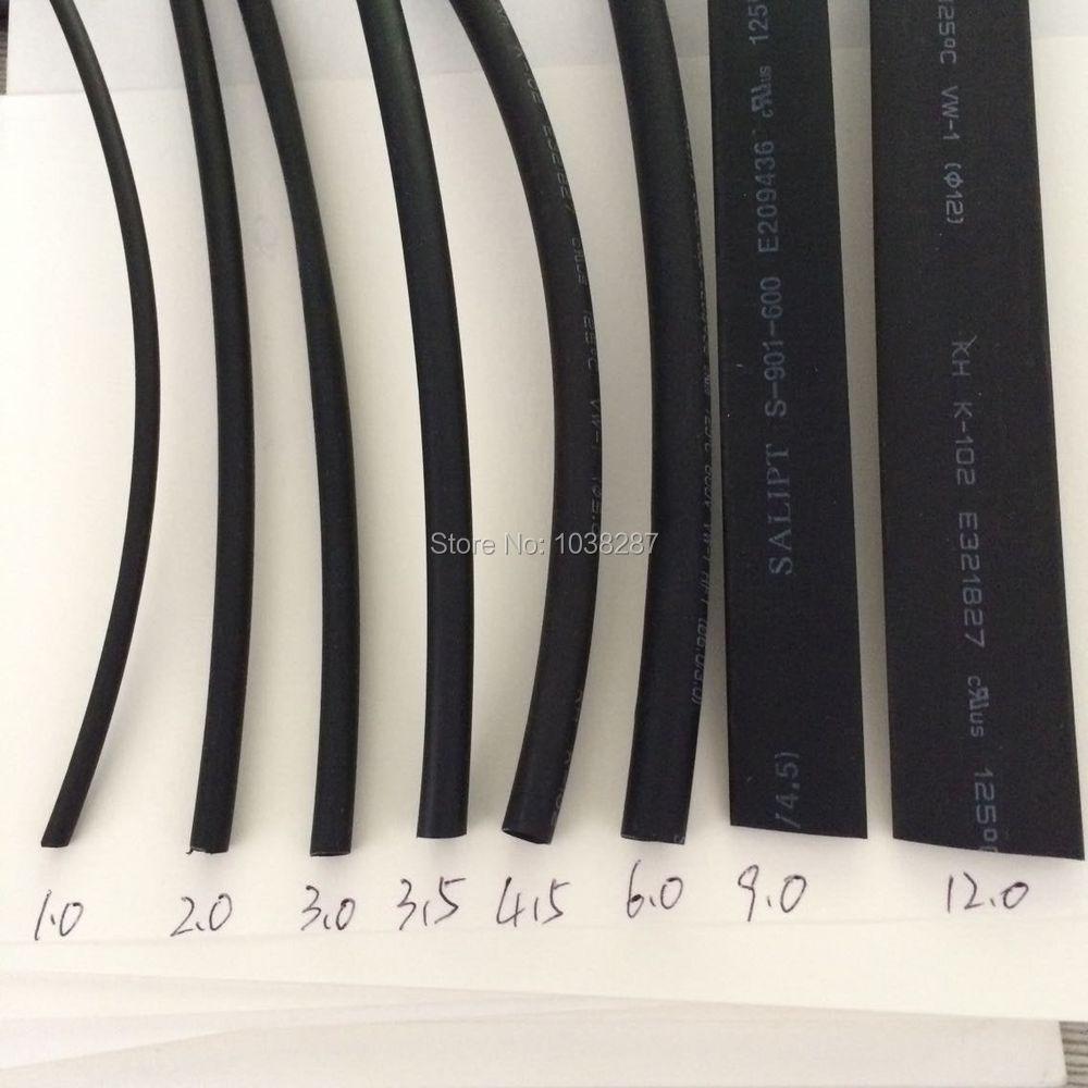 20cm 8pcs 8 size black color 2 1 Heat Shrink Tube Wire Wrap Cable Sleeve set