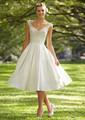 L010 Hot Sale Elegant V neck White ivory Lace Cheap Ball Gown Wedding Dress Vintage Sash