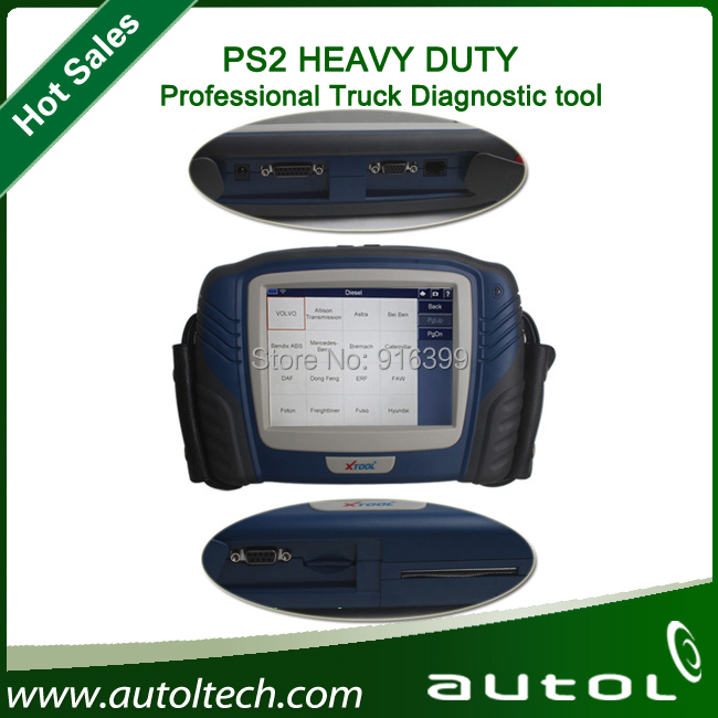 For Most Trucks PS2 Scanner Heavy Duty Diagnostic Computer XTOOL PS2 Truck Professional Diagnostic Tool in Stock(China (Mainland))