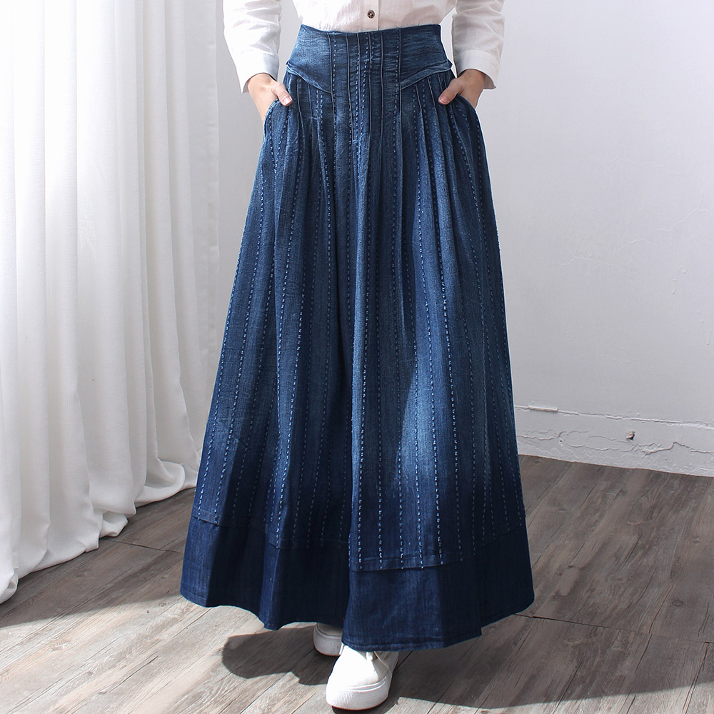 New Spring Summer Women Pleated Skirt Red Fashion A Line Skirts Womens