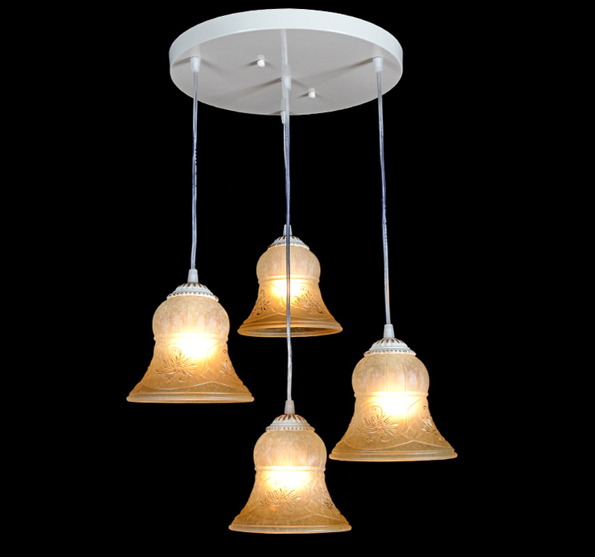 Modern glass chandelier ceiling lampshade 4 round cell library aisle stairs warm light table lamp chandelier(China (Mainland))