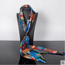 high quality Bohemia crumple scarf women Satin scarf female long fashion scarf women scarf digital printing towel-b205