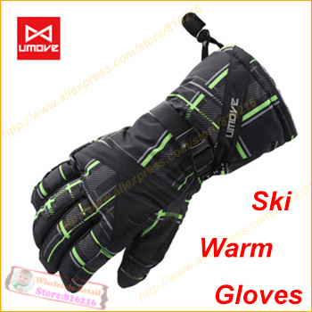 2014 New Warm brand men's ski gloves Snowboard Snowmobile Motorcycle winter Windproof Waterproof unisex - Fashion the benefits cap / glasses clothing accessories stores store