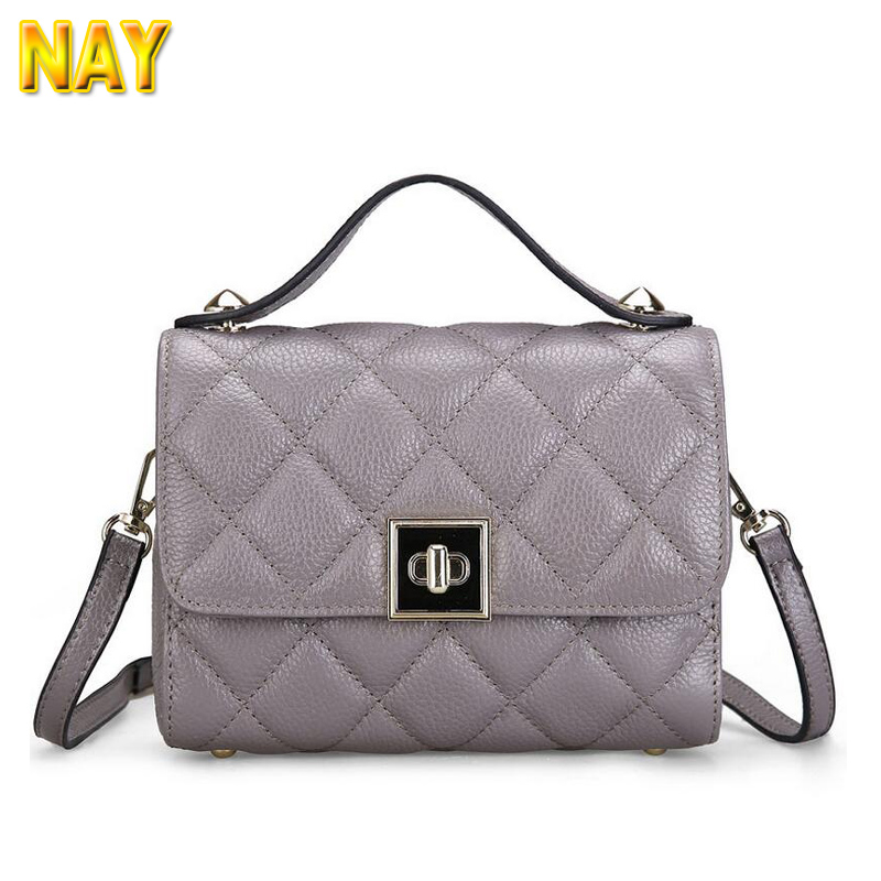 Plaid Designer Women Messenger Bags Real Leather Small Crossbody Shoulder Bags Women Casual Bag Dollar Price(China (Mainland))
