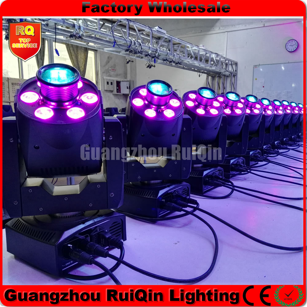 Free shipping 10pcs/lot 30W +x6x8W Spot Wash Moving Head DJ Disco Club Lighting(China (Mainland))