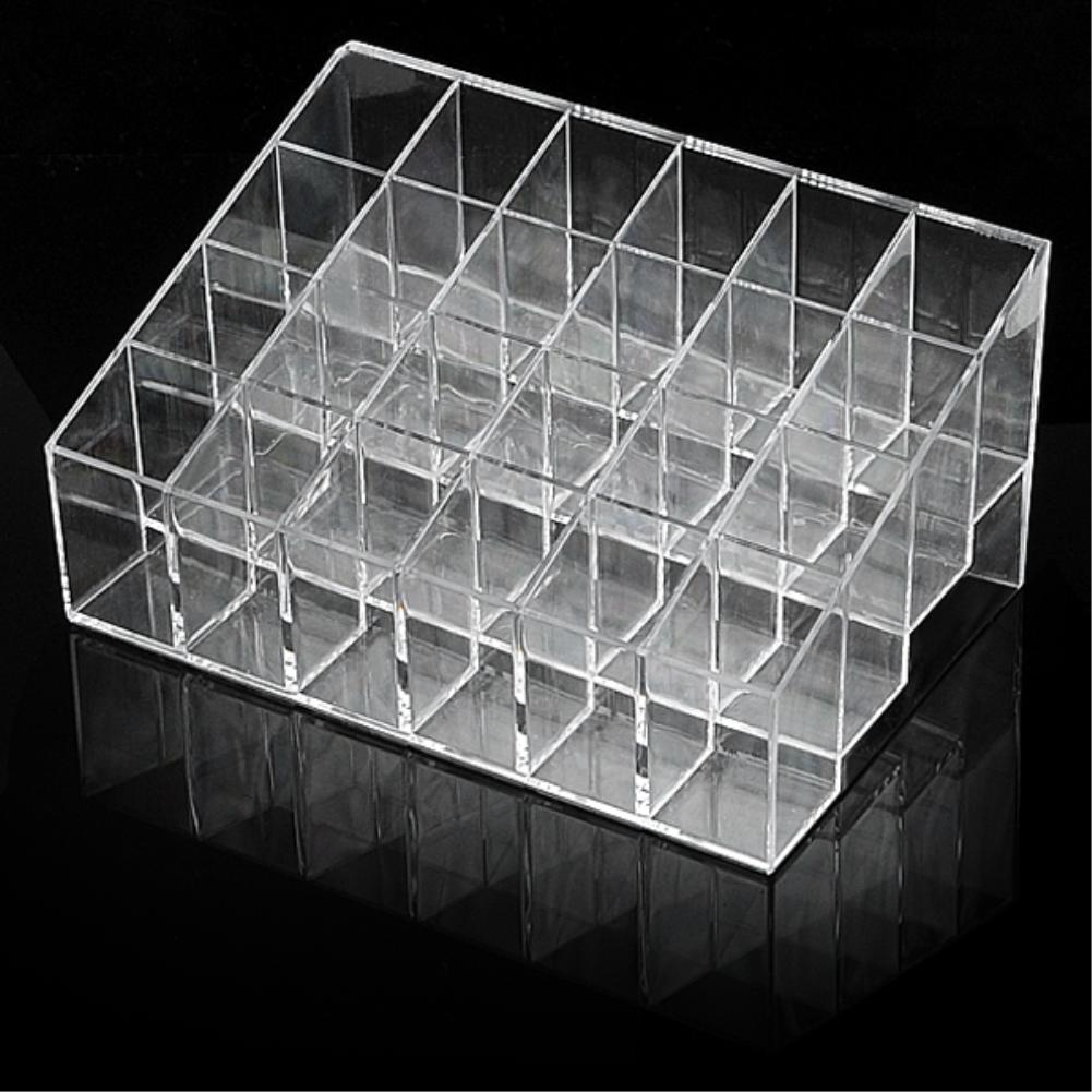 Acrylic Lipstick Holder Display Stand makeup organizer Cosmetic Case Cosmetic storage box ES0116(China (Mainland))