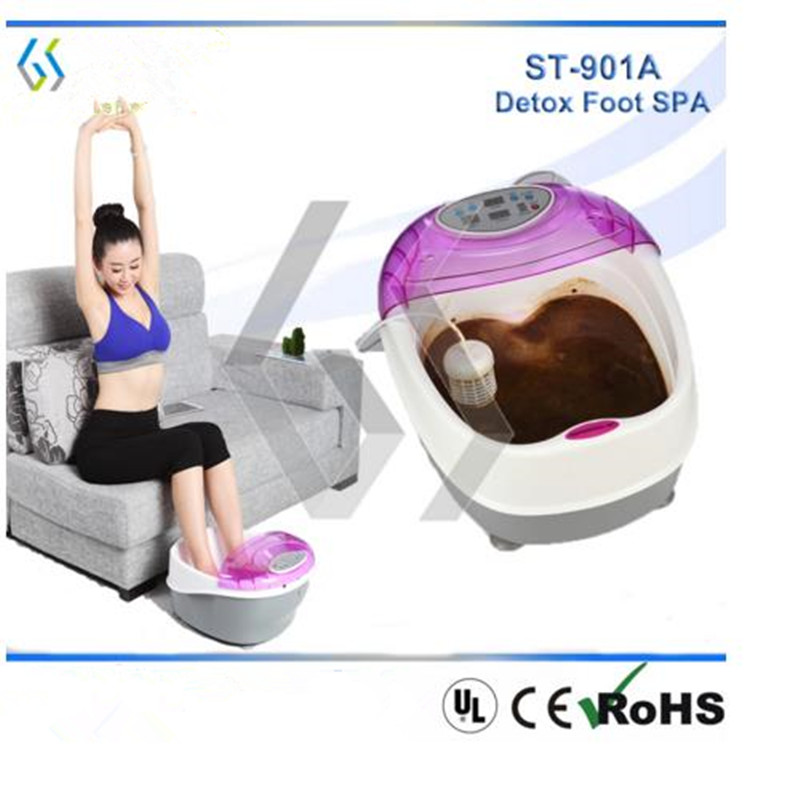Health Care Ion Cleanse Detox Foot Spa With Heating Belt Detox Massager Machine(China (Mainland))
