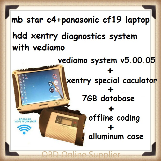 CF19 + MB Star C4 SD Connect + HDD Xentry Diagnostics System Compact 4 Mercedes Diagnosis Multiplexer For Benz Diagnose freeship(China (Mainland))