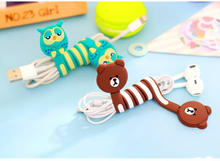 Cute Cartoon Earphone Cable Wire Cord Organizer Holder Winder for iPhone 6 Tablet MP3 MP4 PC Headphones winding thread tool(China (Mainland))