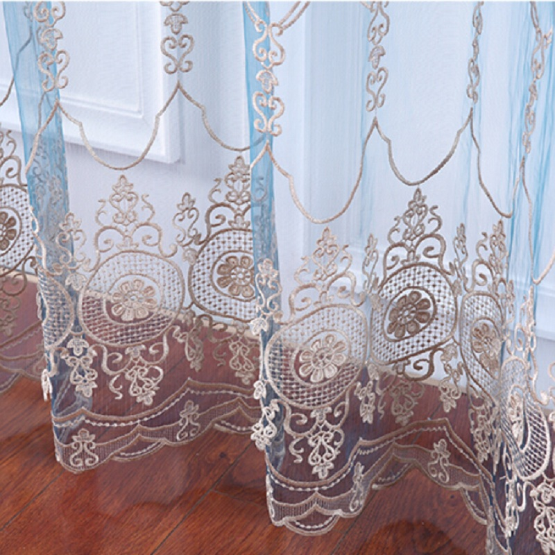 fashion embroidered screens curtain modern embroidery