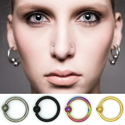 Pequeños pendientes de aro para hombres mujeres plata oro negro colorido elegir 100% G23 titanio