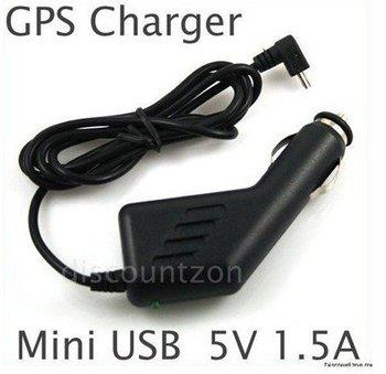 Free Shippingx10pc,12-24V 1.5A NEW MINI USB CAR CHARGER for GARMIN NUVI GPS SAT NAV TOM