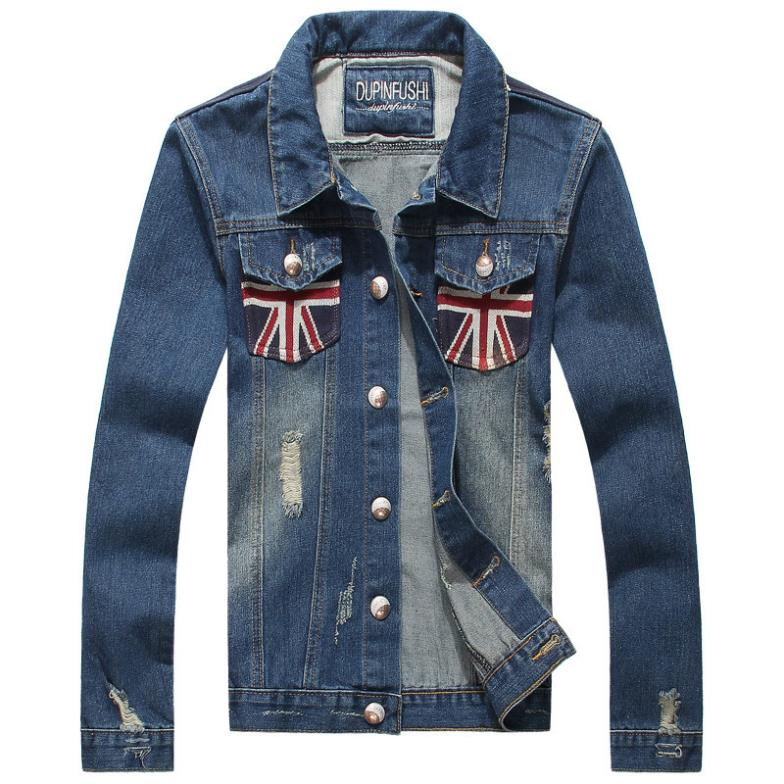 Jeans Jackets For Mens in India Mens Blue Jeans Jacket us Flag