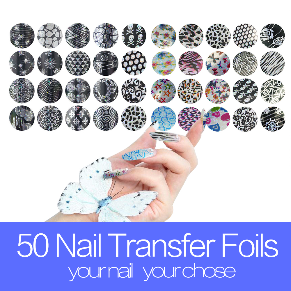 40Sheets 20cm*4cm Nail Foil Sticker Transfer Foils Decal Nail Art Foil Nails Sticker Foils Laser Lace Flower Gold Designs(China (Mainland))