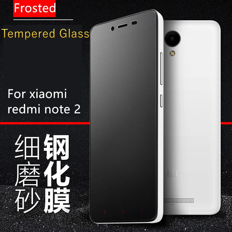 Гаджет  Frosted Tempered Glass Film for xiaomi hongmi redmi note 2 Arc Edge 2.5D 0.33mm Frosted Screen Protector Film with Clean Tools None Телефоны и Телекоммуникации