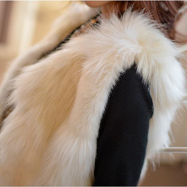Womens Ladies Winter Warm Faux Fur Vest Jacket Coat Long Waistcoat Outerwear On Sale 2015 Fashion