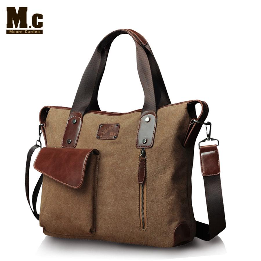 2015 brand designer vintage multifunctional canvas men's Hadnbag Laptop Bags tote Shoulder bag for men mc-80095(China (Mainland))