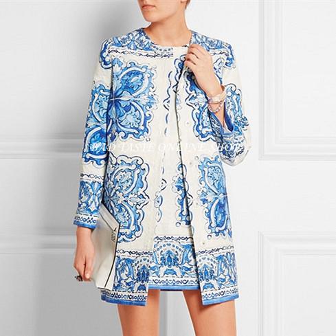 Print Brocade Dress