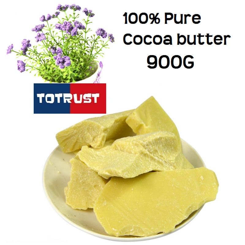 Pure Cocoa Butter Hot Sale Cream Balm Unrefined Essential Oil West African Organic Cocoa Butter For Skin Care Raw Material 900g<br><br>Aliexpress