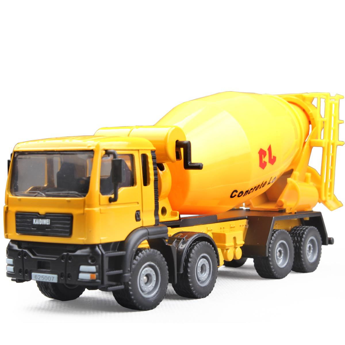 kids toys for children kaidiwei 1:50 scale model car diecast car model blaze car toy trailers Concrete mixing truck 625007(China (Mainland))
