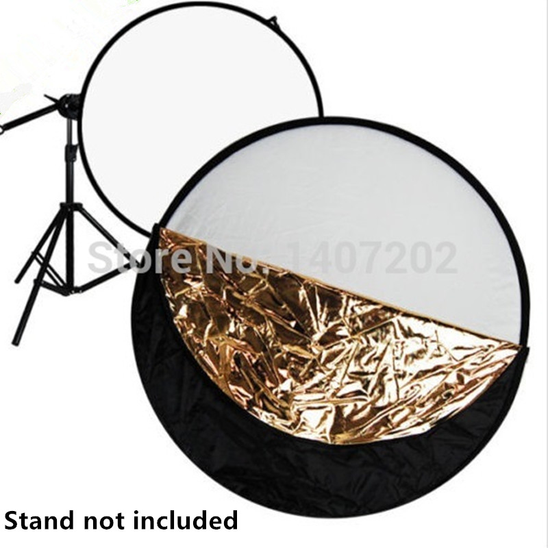 110cm 5 in1 Collapsible Photo Reflector Durable flexible Panel Studio Frame 5 Colors 43 inch<br><br>Aliexpress