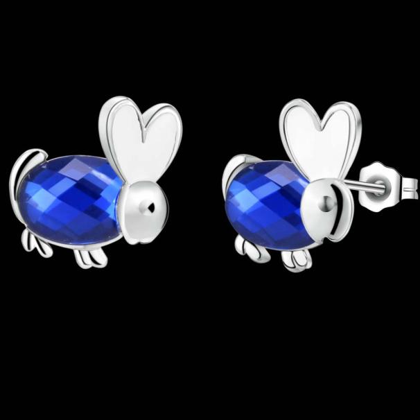 2016 cute designer big Australian crystal rabbit Stud Earrings,top sale fashion girl's Exclusive party/wedding earrings jewelry(China (Mainland))