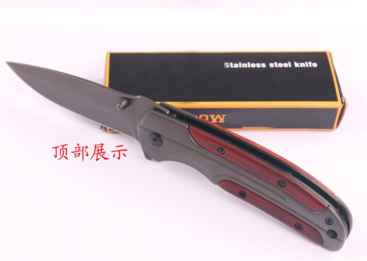 Buy 5Cr Blade  Steel + annatto Handle Hunting Camping Knives  Custom Pocket Hunting DA-43 Survival Folding Knife+Very good quality cheap