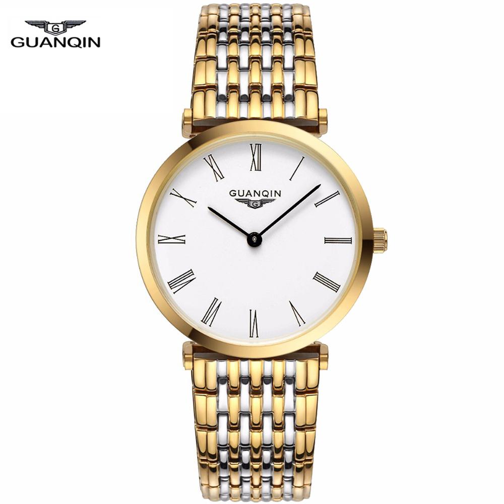 Watches men GUANQIN luxury brand quartz wristwatch casual Business reloj hombre dive30m sport gold Clock relogio masculino 90086