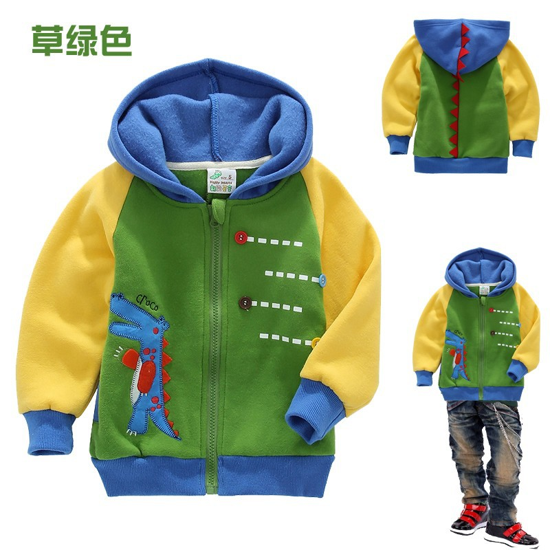 Male girls clothing 1 - 2 years 3 4 5 6 7 80cm-90-100-110-120--130 100% cotton autumn and winter thickening baby outerwear 1292(China (Mainland))