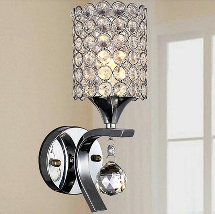 E27 LED Crystal Wall Lamp  Fashion home lighting Wall mounted crystal wall light for bedroom living room<br><br>Aliexpress