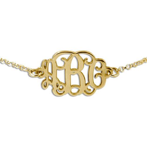 Personalized Gold Plated Monogram Initials Bracelet Glitter Letter Charm Customize Made Women Bracelet Gift(China (Mainland))