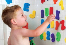 Kids & New Baby Bath Toy 3Soft Foam Letters Numbers Toys Classic Educational 36pcs/set (26 + 10 ) - liu ivy's store