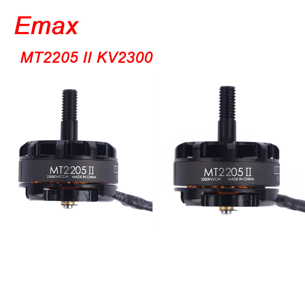 4Pcs/Lot Emax MT2205 II 2300kv CW/CCW Brushless Motor With 0.2mm Spindle Racing Edition Motor For RC FPV Quadcopter QAV250
