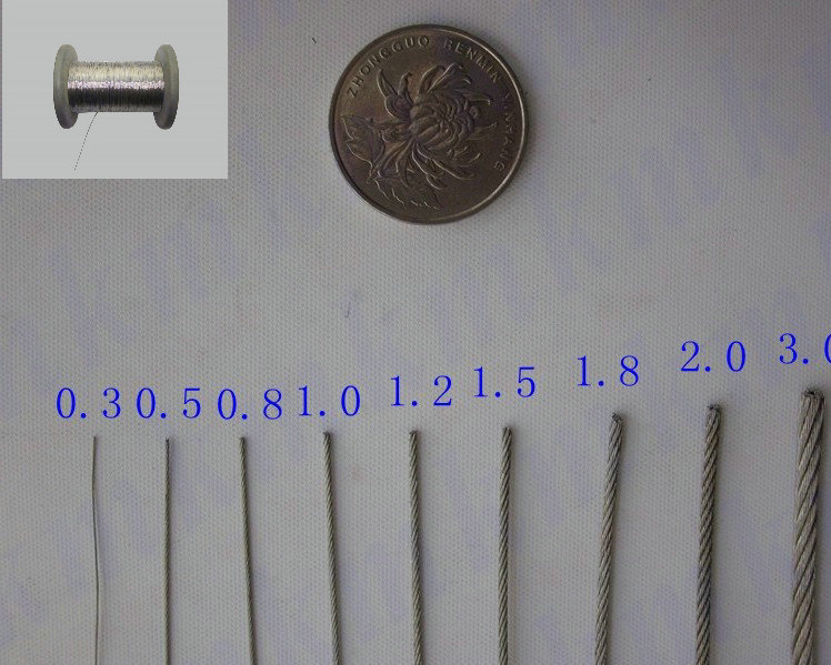 100M/Roll AISI 304 Stainless Steel 1.2 MM 7X7 Structure Metal Wire Rope Cable(China (Mainland))
