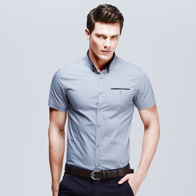 Slim fit short sleeve shirts for men greek t shirts for Short sleeved shirts for men