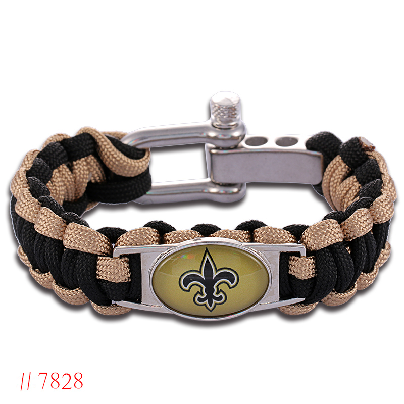 nfl new orleans saints paracord bracelet adjustable