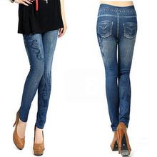 S-XL, New 2016 Women's Skinny Leggings Fashion Elastic Print, Hole, Pleated Imitation Jeans Leggings Plus Size Slim Leggings(China (Mainland))