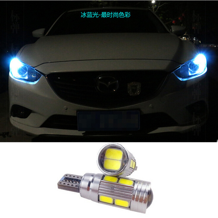 2 X T10 LED W5W Car Auto Lamp 12V Light bulbs Projector Lens mazda 3 Axela 6 atenza cx-5 cx5 cx 5 m3 drl parking - New process co., LTD store
