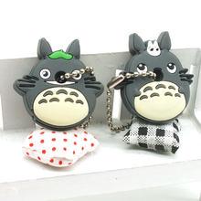 ZOEBER 2 PCS um conjunto bonito do Anime Dos Desenhos Animados da corrente Chave tampa do teclado de Silicone cap mulheres olá kitty asseclas Totoro monstro anel Chaveiro carro(China)