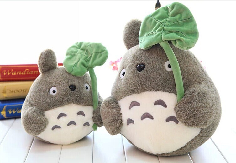TV anime cartoon 48cm lotus leaf Totoro toy doll gift w4756(China (Mainland))
