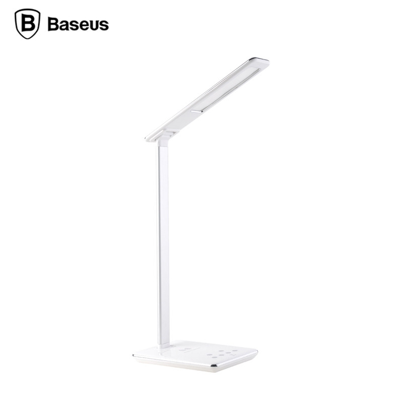 BASEUS 2 in 1 Unique Ingert Series LED Desk Lamp+Wireless Charger Universal Pro for iPhone for Samsung CN/EU/US/UK Plugs Adaptor(China (Mainland))