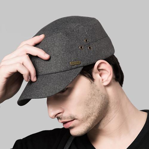 Cap Kenmont Military Hat Autumn Sping Men Wool Black Grey Adjustable Bucket Hats Caps Bones Masculinos E-0568 - Price Brand Store store